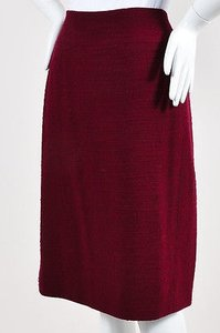 Chanel Boutique 98a Burgundy Skirt Red