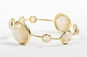 Ippolita Ippolita 18k Yellow Gold Rutilated Quartz Rock Candy Bangle Bracelet