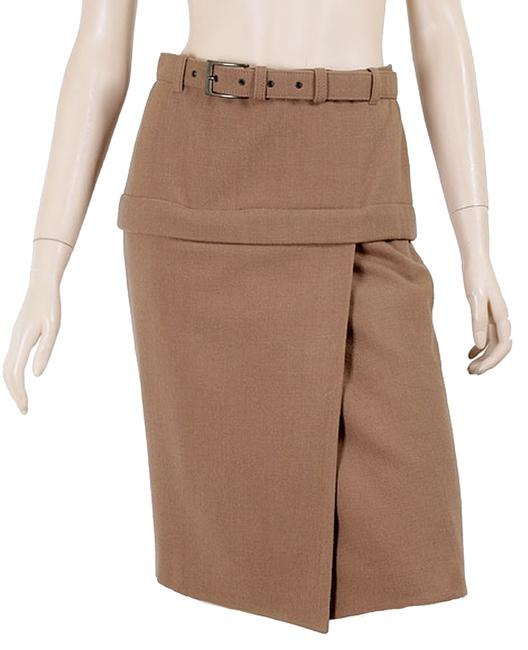 Preload https://img-static.tradesy.com/item/1095970/jean-paul-gaultier-brown-camel-wool-belted-knee-length-skirt-size-4-s-27-0-0-650-650.jpg