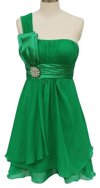 Preload https://img-static.tradesy.com/item/109598/green-one-shoulder-chiffon-w-rhinestones-ornament-short-formal-dress-size-22-plus-2x-0-0-650-650.jpg