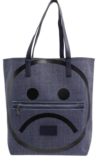 Item - Unsmiley Blue Cotton Tote