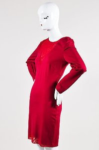 Halston Heritage Burgundy Dress