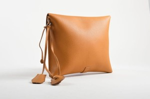 Other Nagatani Pebbled Square Brown Clutch