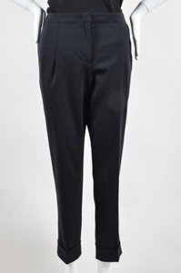 Prada Virgin Wool Capri/Cropped Pants Black