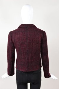 Prada Maroon Purple Wool Red Jacket