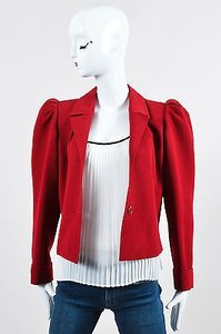 Saint Laurent Vintage Rive Red Jacket