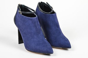 Jimmy Choo Navy Black Suede Blue Boots