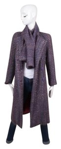 Other Pauline Trigere Flecked Tweed Long Buttoned Coat