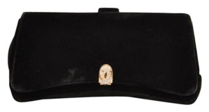 Vintage Garay Rhinestone Black Clutch