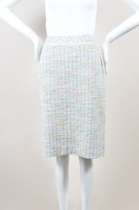 W by Worth Green Pink Pastel Blend Tweed Pencil Skirt Multi-Color