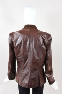 John Galliano Leather Brown Jacket