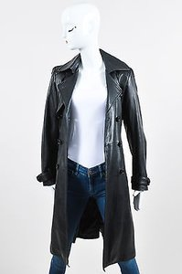 DOMA Leather Quilted Trench Coat