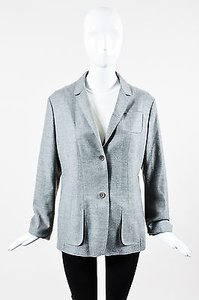 Jil Sander Jil Sander Heather Gray Wool Button Up Long Sleeve Blazer Jacket