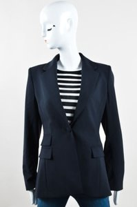 Altuzarra Navy Wool Crepe Blue Jacket