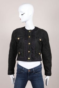 Moschino Jeans Black Cropped Womens Jean Jacket