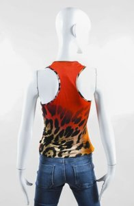 Just Cavalli Black Tan Red Top Multi-Color