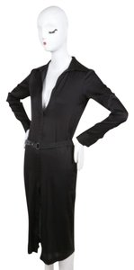 Other short dress Gucci Tom Ford Black Silk Belted Long Sleeve Shirt on Tradesy