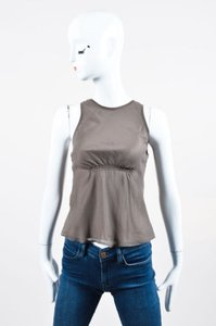 Brunello Cucinelli Sheer Panel Top Taupe