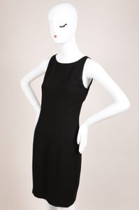 Chanel short dress 06a Black Silk Knit Sleeveless Shift on Tradesy