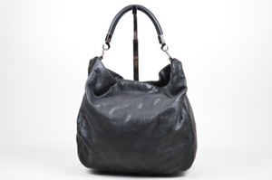 Saint Laurent Ysl Yves Leather Silver Hardware Roady Hobo Bag