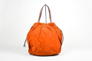 Prada Burnt Suede Satchel in Orange