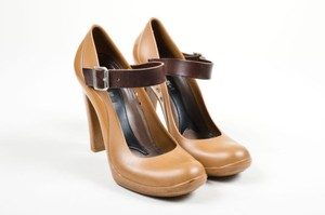 Marni Tan Rubber Brown Pumps