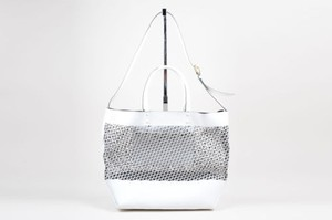 Pierre Hardy Leather Tote in White