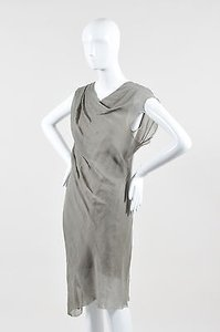 Helmut Lang short dress Taupe Gray Cotton on Tradesy