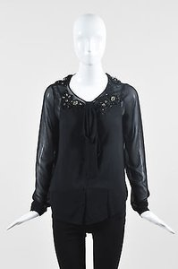 Robert Rodriguez Sheer Top Black