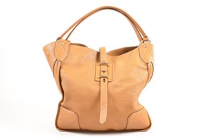 Belstaff Tan Pebbled Leather Nottingham 38 Tote Hobo Bag