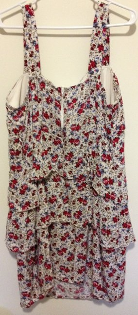 Maurices short dress White & floral on Tradesy
