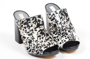 Reed Krakoff Black White Multi-Color Mules