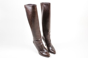 Brian Atwood Leather Brown Boots