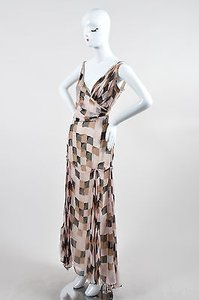 Multi-Color Maxi Dress by Badgley Mischka Pink Brown