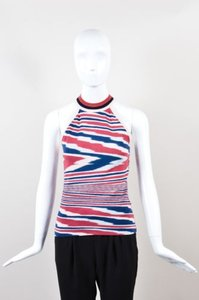 Missoni Red Blue Pink Wavy Top Multi-Color