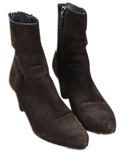Prada Dark Suede Brown Boots