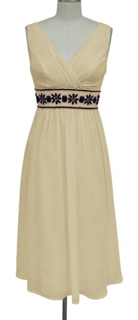 Preload https://item4.tradesy.com/images/beige-goddess-beaded-waist-cocktail-sizelarge-mid-length-formal-dress-size-12-l-109658-0-0.jpg?width=400&height=650