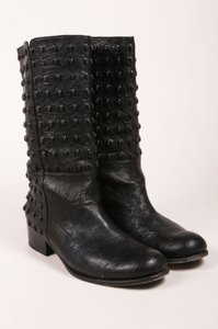 Thomas Wylde Black Studded Boots