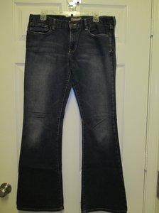 Abercrombie & Fitch 12 Long Flare Leg Jeans-Dark Rinse