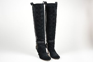 Dior Christian Quilted Black Boots