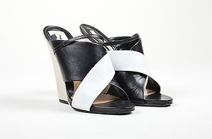 Narciso Rodriguez White Black Sandals