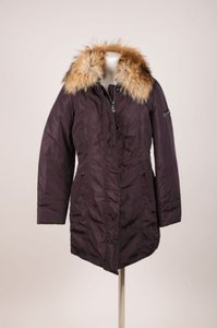 Peuterey Navy Fur Down Jacket Coat