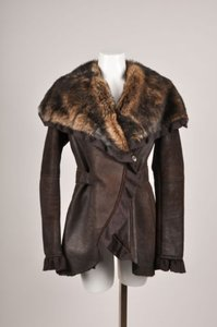 Artico Brown Shearling Fur Jacket