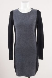 360 Sweater short dress Gray Black on Tradesy