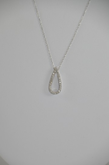 Preload https://item2.tradesy.com/images/white-gold-024ct-genuine-diamond-14k-necklace-1096661-0-0.jpg?width=440&height=440
