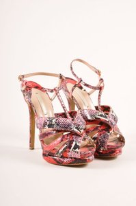 Nicholas Kirkwood Red Snake Sandals