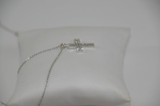 White Gold 0.30ct. Genuine Diamond Cross 14k Solid Necklace Image 5