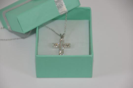 White Gold 0.30ct. Genuine Diamond Cross 14k Solid Necklace