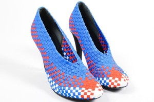 Alexander Wang Blue Red White Multi-Color Pumps