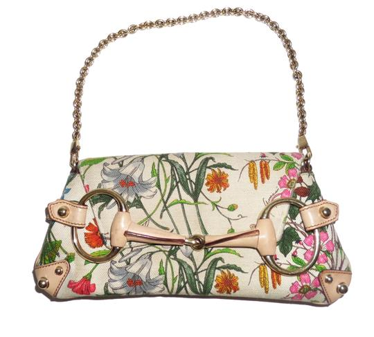 Gucci Handbag Purse Chanel Floral Clutch